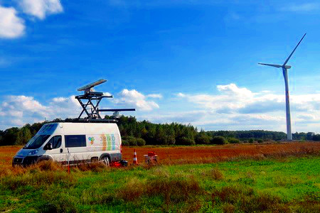 3 Bird Radar System - bird radar research at wind farm area in Poland